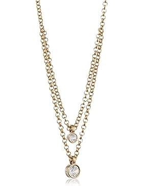 Dyrberg/Kern Damen-Halskette 15/02 Fulli Sg Crystal Messing teilvergoldet 45 cm - 338053
