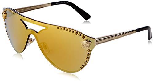 Versace Damen 0VE2161B 12527P 42 Sonnenbrille, Pale Gold/Mirrorgold
