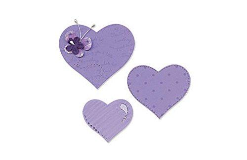 Sizzix Bigz Fustella Heart # 3 (B & W)