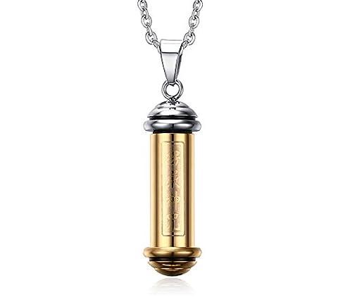 Vnox Pendentif Charm femmes des hommes en acier inoxydable Memorial Keepsake Bouddha Urne Collier en or,chaîne