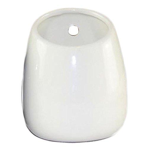 Outflower Blanco Macetas de cerámica Colgantes Macetas de Pared para Interiores para Decoraciones Flores Plantas para el hogar/Oficina/jardín/Regalo,10 * 6.5cm