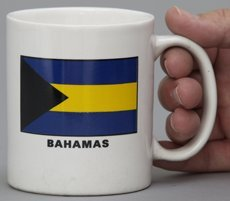 3dRose Flagge der Bahamas Inseln. Bahama-Gelb Gold Streifen schwarz Triangle Country Welt Souvenir-Two Ton Blau Becher, Keramik, Blau/Weiß, 10,16x 7,62x 9,52cm Bahama Becher