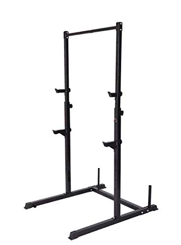 Squat Rack/Barre de Traction Ajustable/Barre Fixe/Developper couché/Pull up Bar/Cage à Squat