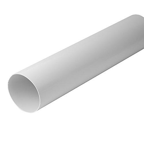 Lüftungskanal Flachkanal Rohrkanal Rundkanal Lüftungssystem Abluftkanal Flachkanalsystem für Dunstabzugshaube Bogen T-Stück Umlenkstück 110x55mm 220x55mm DN100 DN125 (Ø100mm Kunststoffrohr 0,5m)