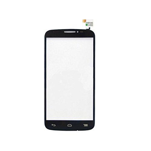 FONFON Touch Screen Glass Front Digitizer Scheibe Display Glas für Alcatel One Touch Pop C7 7041D Schwarz (Pop One C7 Touch)