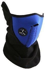 Afs Blue Neoprene Bicycle Motorcycle Snowboard Ski Cycling Half Face Mask With A Cutout For Nose Breathing Neck Warmer For Men And Women  available at amazon for Rs.144