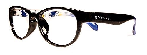 NOWAVE Neutralbrille für PC, Tablet, Smartphone, TV und Gaming. Beseitigt Ermüdung und Reizung der Augen. Ultra-leichtes Gestell. Accessoire für Büro und Schule/ Studium. Entspannende Brille mit 40% Schutz vor blauem Licht und 100%-igem UV-Schutz. PC-Bildschirm-Filter. ITALIAN STYLE 2017 - St. Lucy