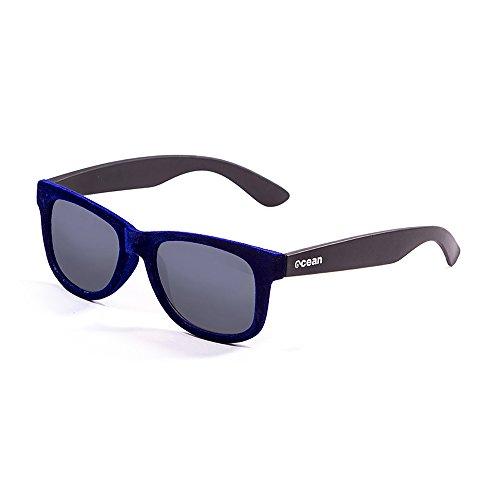 Ocean Sunglasses - beach velvet - lunettes de soleil - Monture : Bleu Velours/Noir - Verres : Fumée (V18202.94)