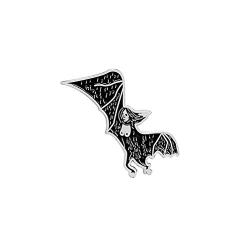 Toporchid Gothic Bebe Bat Emaille-Revers-Stifte Unisex Kreatives Design Illustratoren Dark Art Skeleton Pin, Style2 - Revers-stifte