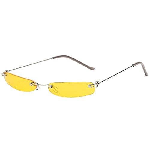 Dragon868 Herren/Damen Sonnenbrille Metallic Vintage Transparent Small Frame Sonnenbrille Retro Brillen (F)