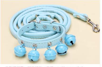 XXCDS Hund Glocke Kragen Kragen Zugseil Hund Seil Heimtierbedarf blau 25-31 cm Gewicht 1,5-7,5 kg