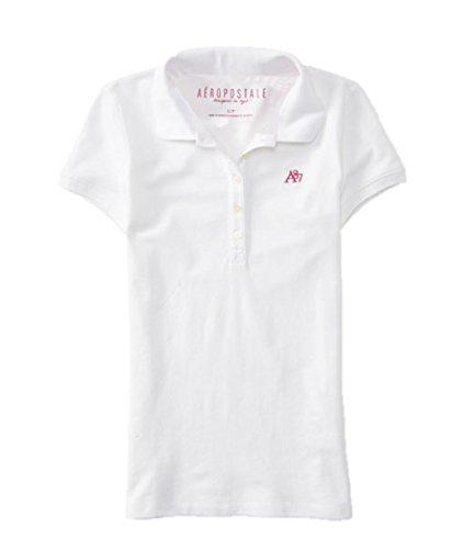 Aeropostale Women's Polo Shirt Small White 102 (Polo-shirts Aeropostale)