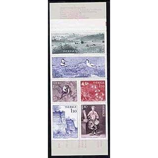 Booklet - Sweden 1978 Travels with Carl Linne (Botanist) 7k80 booklet complete and pristine, SG SB327 BIRDS AVOCETS FLOWERS SLANIA JandRStamps