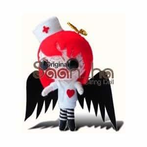 Original Saan Ha 'Black Angel' Good Luck Voodoo Doll - Bella