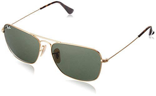 Ray-Ban UV protected Aviator Men's Sunglasses (0RB3136|57 millimeters|Green) image