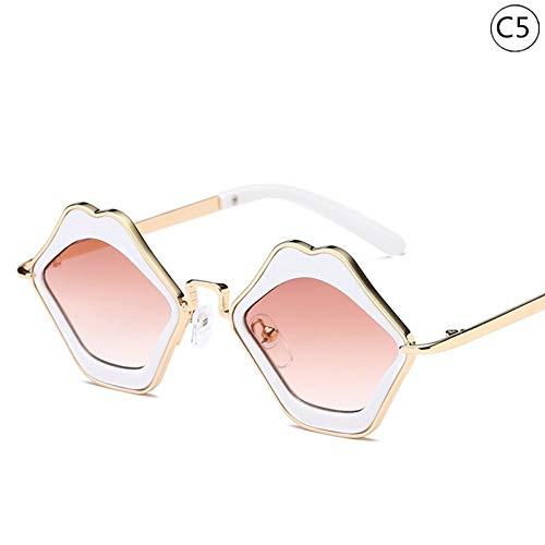 Taiyangcheng Kinder Geschenk Kinder & Baby Sonnenbrillen Vintage Lippen Sonnenbrillen Brillen Geschenk Kindermode Brillengestell,C5