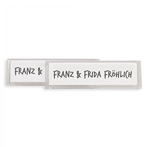 Banjado - Burg-Wächter Namensschild aus PVC (2 Stück) thumbnail