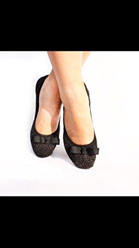 Happy FeetHfp01 - Ballet donna Black Bow