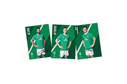 SV Werder Bremen Autogrammkarten 2019/2020 ** mit Unterschriften **