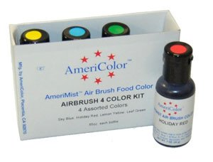 4 Airbrush Farben-Set AmeriColor AmeriMist (4x19ml) -