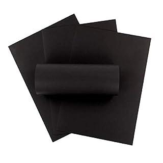 ZADAWERK® Tonpapier - 150 g/m² - DIN A3 - schwarz - 50 Stück - basteln - Kinder