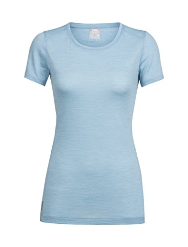 Icebreaker Sphere SS Low Crewe T-Shirt Femme, Waterfall Heather, FR : L (Taille Fabricant : L)
