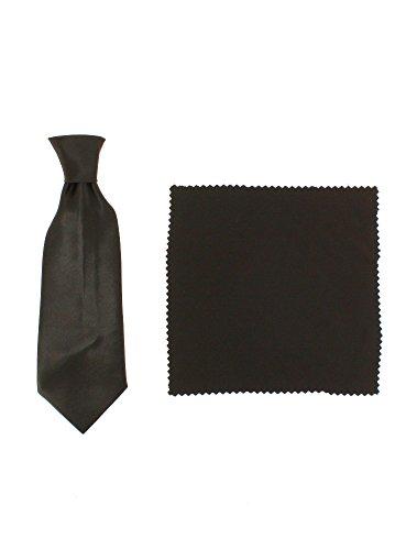 Cravate enfant élastique + pochette 3 tailles au choix bébé, enfant ou ado Marron