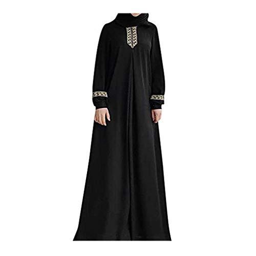 Kostüm Tanz David - ZEELIY Mode Frauen Winter Muslimische Robe, Dubai Ramadan Kaftan Marokkanischen Moslemisches Kostüm Abaya Islamische Kleidung Damen Chiffon Langarm