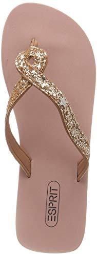 ESPRIT Damen Glitter infinit Pantoletten, Beige (Dusty Nude 275), 39 EU Damen Schuhe Glitter