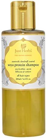 Just Herbs Ayurvedic Anti-Dandruff Soya Protein Herbal Shampoo, For Men & Women, Chemical Free - 20