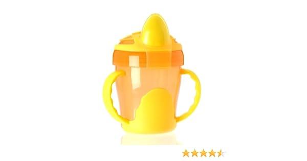 200 ml 3-en-1 Vital Baby Gobelet dApprentissage /à Anses Orange et jaune