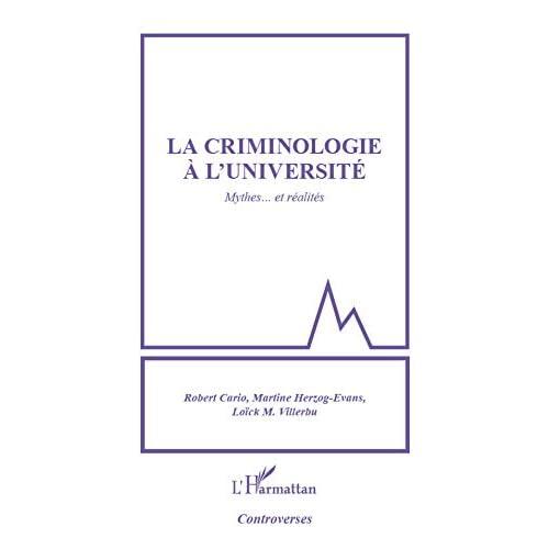 Criminologie a l'université mythes et réalités