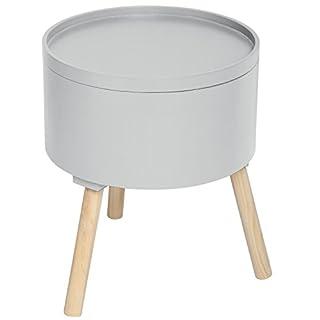 ATMOSPHERA 2 in 1 Kaffetisch mit Integrierter Aufbewahrungskiste - skandinavischer Stil - Farbe: GRAU