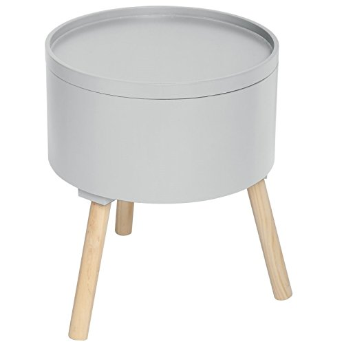 2 en 1 Table basse + coffre de rangement - Style scandinave - Coloris GRIS