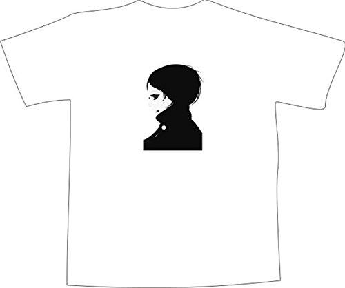 T-Shirt E032 Schönes T-Shirt mit farbigem Brustaufdruck - Logo / sexy Frau mit Jacke Mehrfarbig