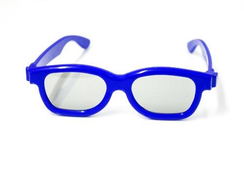 3D Brille für Kinder Universale passive 3D-Kinderbrille für Cinema 3D LG, Easy 3D Philips, Panasonic, Toshiba, Grundig und RealD Kinos in blau NEU von der Marke PRECORN