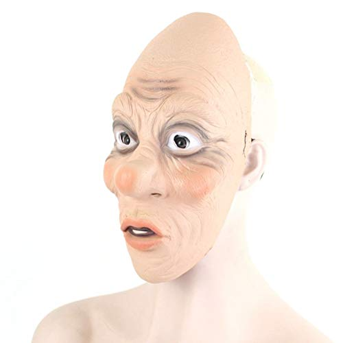 FLTVSN Halloween-Maske Alter Mann Latexmaske Halloween Realistische alte Menschen Vollgesichtsgummimasken Maskerade Cosplay Requisiten Santa Claus Masken (Zombie Santa Claus Kostüm)