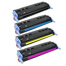 Set von 4Kompatibel 124A Drucker Toner Cartridge FO HP LaserJet 160026002600N 2605605DN 2605DTN MFP CM1015CM1017, 1x Q6000A Schwarz, 1x Q6001A Cyan, 1x Q6002A Gelb, 1x Q6003A Magenta -