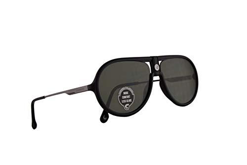 Carrera 1020/S Sonnenbrille Matt Schwarz Mit Polarisierten Grünen Gläsern 60mm 003UC CA1020/S 1020S