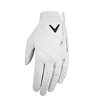 Callaway 2019 Men's Tour Authentic Golf Glove, White, Medium/Large, Left Hand (for the Right Handed Golfer)