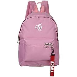 BTS Bangtan - Mochila de lona para niños (diseño de Suga Jimin), color twice pink