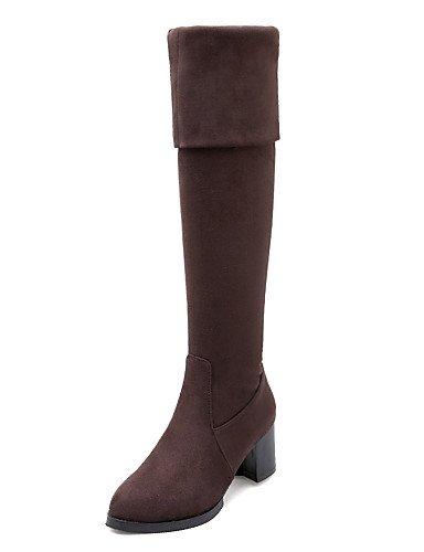 ShangYi Mode Frauen Schuhe Damenschuhe Ferse Mode Runder über den Stiefel Kleid mehr Farben verfügbar burgund