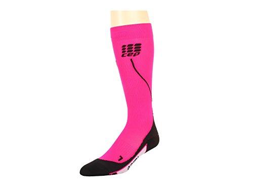 CEP - RUN SOCKS 2.0, Laufsocken lang für Damen, schwarz / pink in Größe III, Kompressionsstrümpfe made by medi -