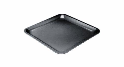 Zak Designs 0015- 0844E Assiette carrée 21,5cm Noir Seaside mélamine