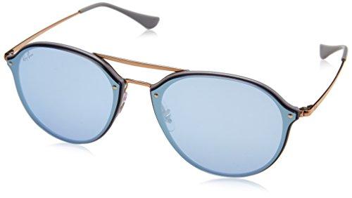 RAYBAN JUNIOR Unisex-Erwachsene Sonnenbrille Blaze Double Bridge, Light Grey/Darkvioletmirrorsilver, 62