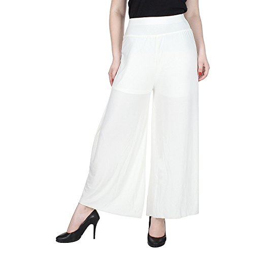 Tara Lifestyle stretchable Designer Plain Casual Wear Palazzo Pant For Women's -...