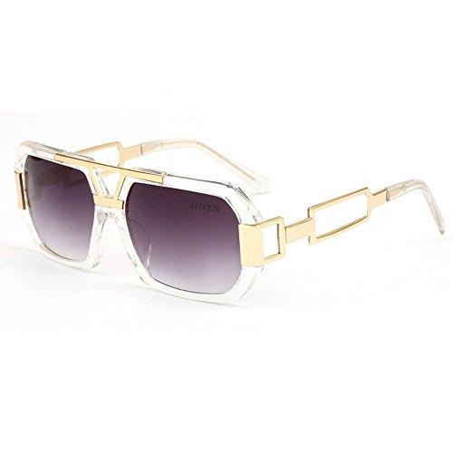 SHEEN KELLY Retro Square Sonnenbrille Luxus Damen Herren Metall Brillen Gold Herren Rechteckig Brille Transparente