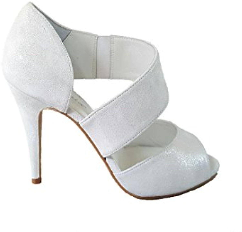 GENNIA NENET - Sandalis da Donna in Pelle con Tacco 9 cm  Punta Aperta   Servizio durevole    Maschio/Ragazze Scarpa