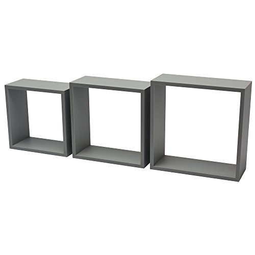 B!organised 1151092 3TC Regalwürfel, 12 mm, 30 x 30 x 11,7 cm, PVC, Grau