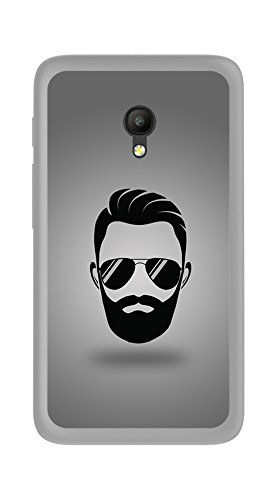 "Tumundosmartphone Funda Gel TPU Orange Rise 51 / ALCATEL PIXI 4 (5"") 4G / VODAFONE Smart Turbo 7 Barba Dibujos"